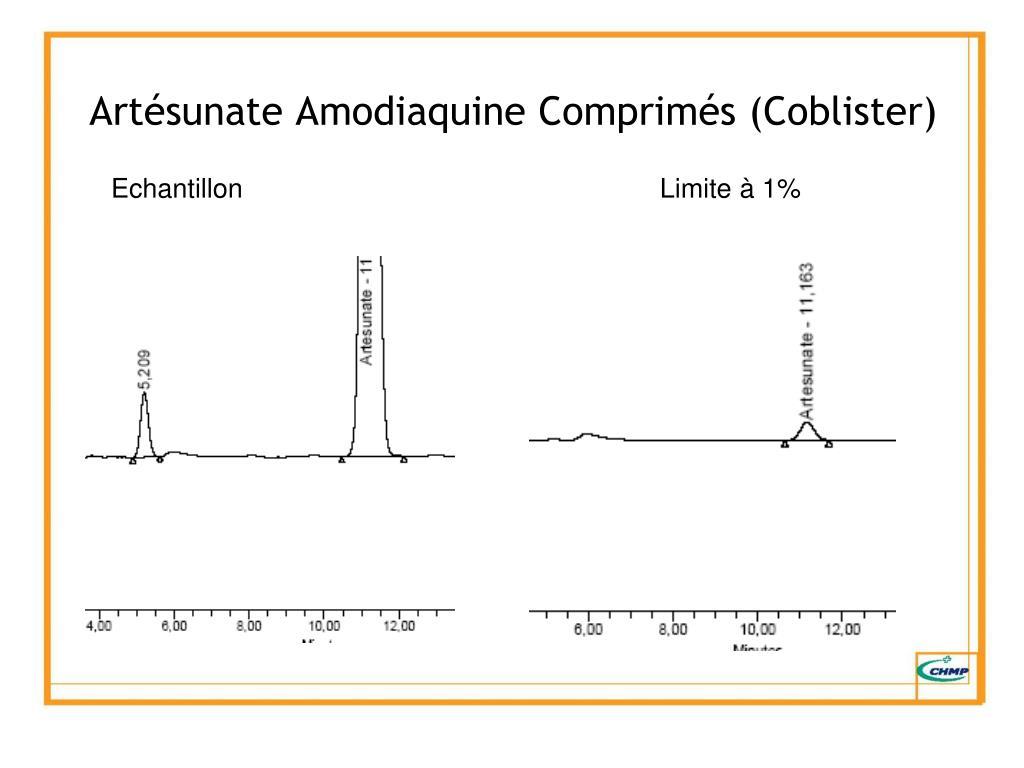 Artésunate Amodiaquine Comprimés (Coblister)