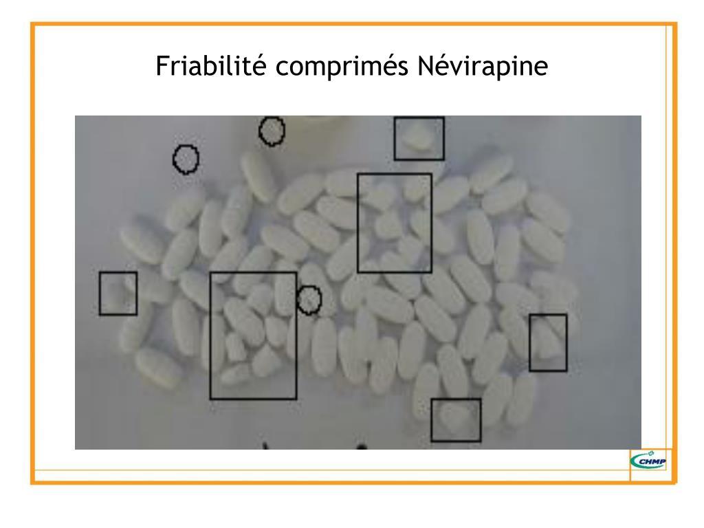 Friabilité comprimés Névirapine