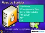 roles de servidor