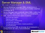 server manager sml sml model it system blueprint