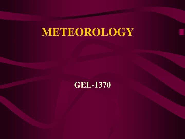 meteorology n.