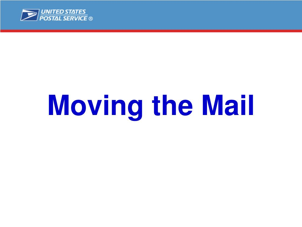 Moving the Mail