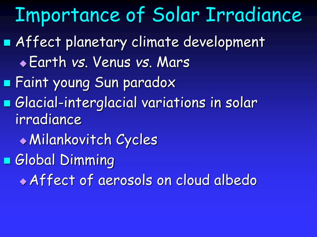 Importance of Solar Irradiance