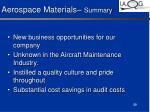 aerospace materials summary