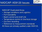 nadcap as9120 issues