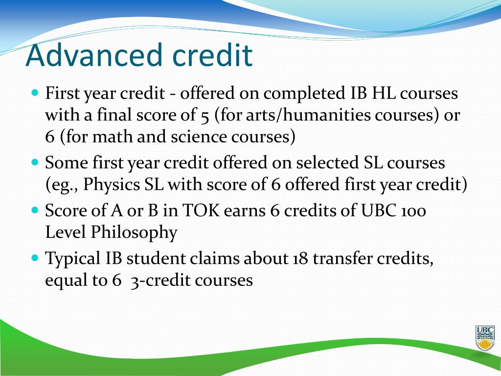 Advanced credit