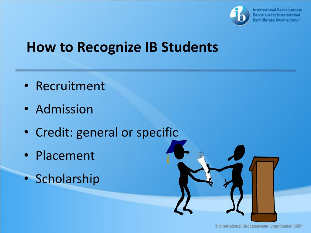 How to Recognize IB Students