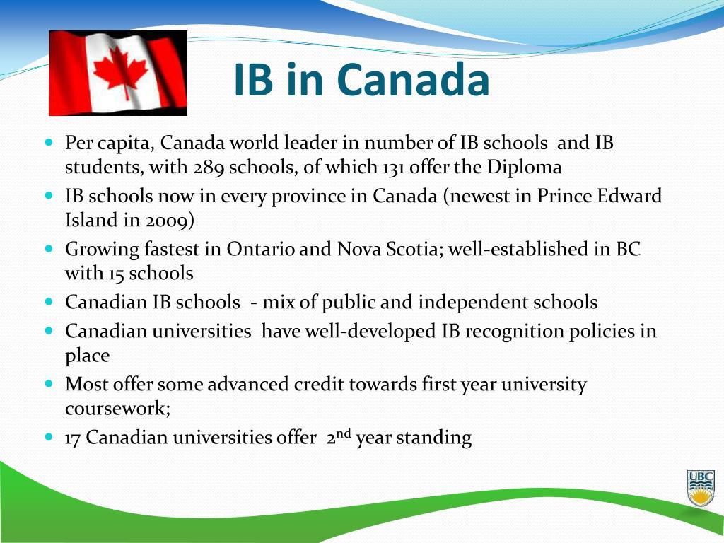 IB in Canada