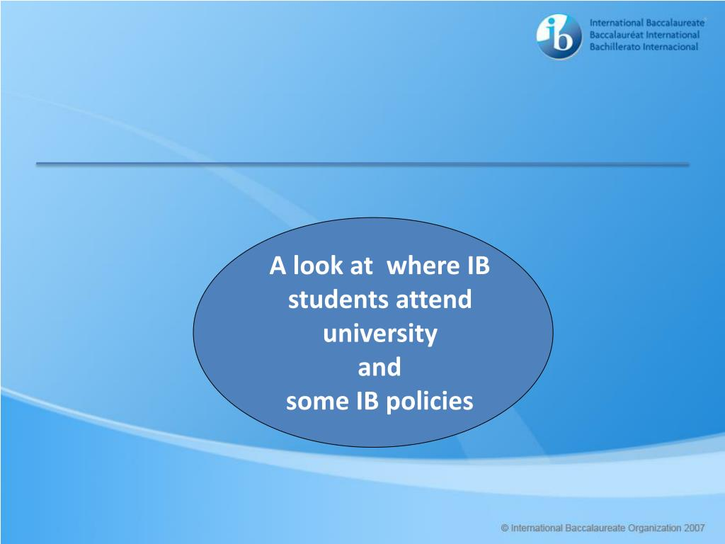 A look at  where IB students attend university