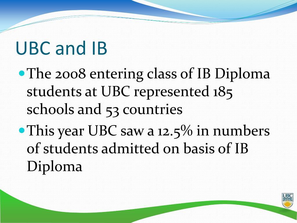 UBC and IB