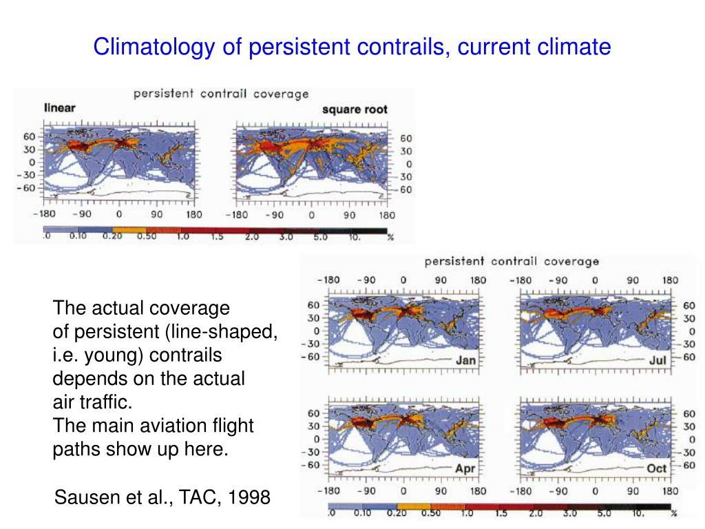 Climatology of persistent contrails, current climate