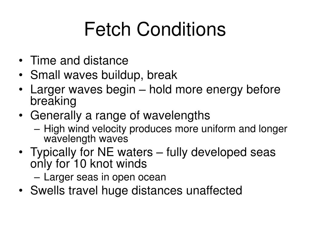Fetch Conditions