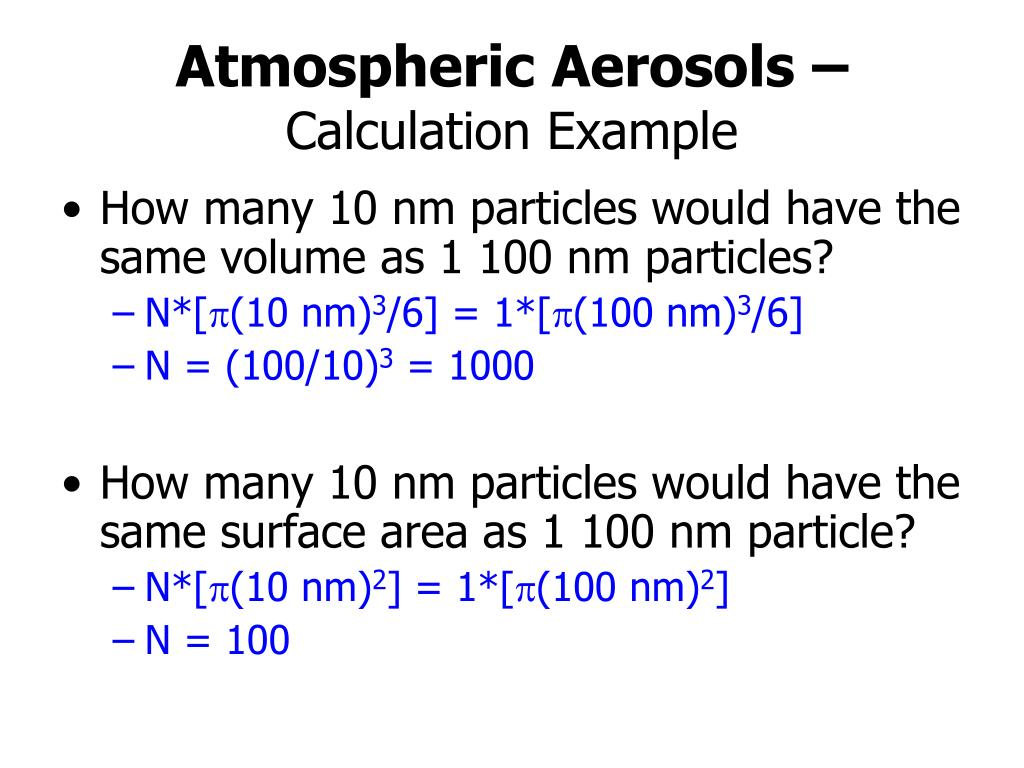 Atmospheric Aerosols –