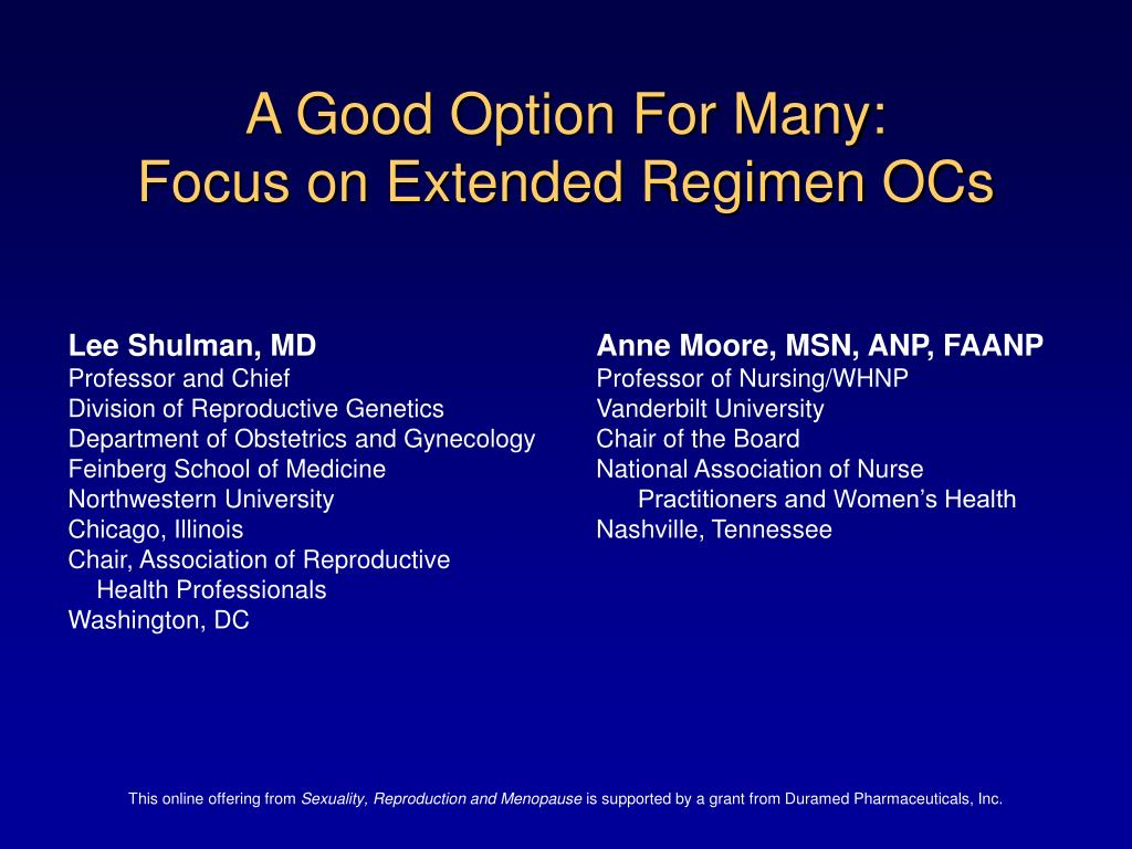 a good option for many focus on extended regimen ocs l.