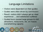 language limitations