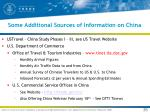 some additional sources of information on china