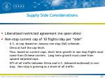 supply side considerations