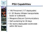 psu capabilities