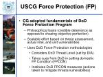uscg force protection fp
