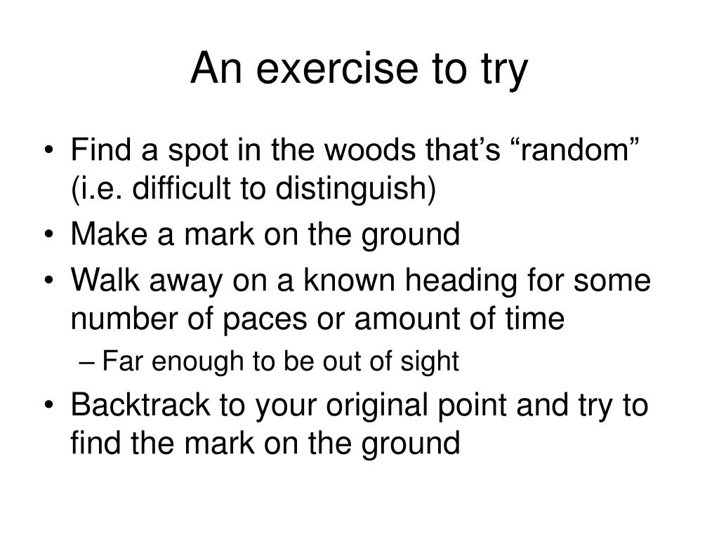 An exercise to try