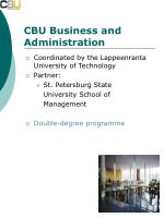 cbu business and administration