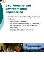 cbu forestry and environmental engineering