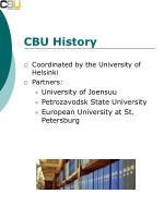 cbu history