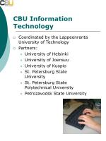 cbu information technology
