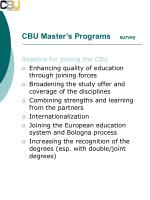 cbu master s programs survey