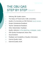 the cbu qas step by step draft