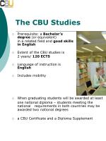 the cbu studies