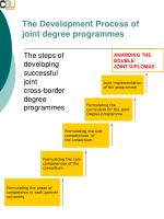 the development process of joint degree programmes