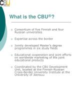 what is the cbu