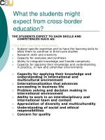 what the students might expect from cross border education