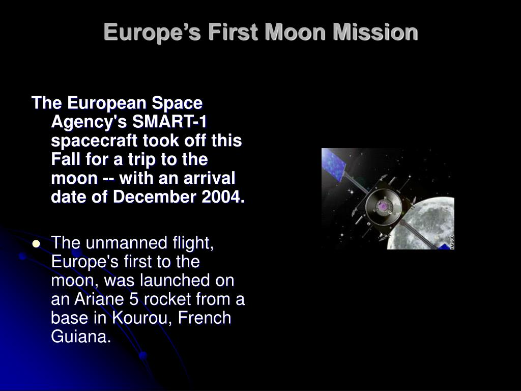Europe's First Moon Mission