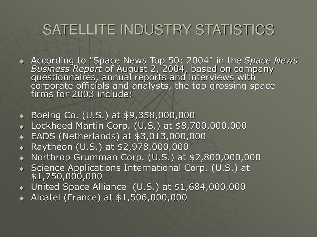SATELLITE INDUSTRY STATISTICS