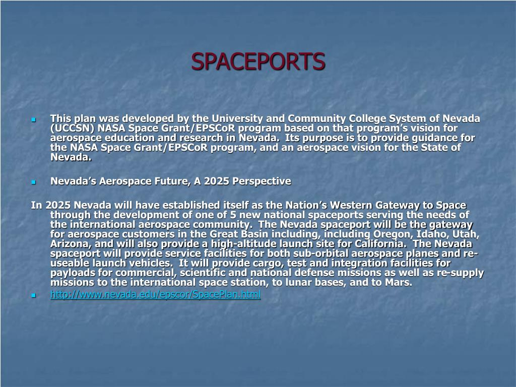 SPACEPORTS
