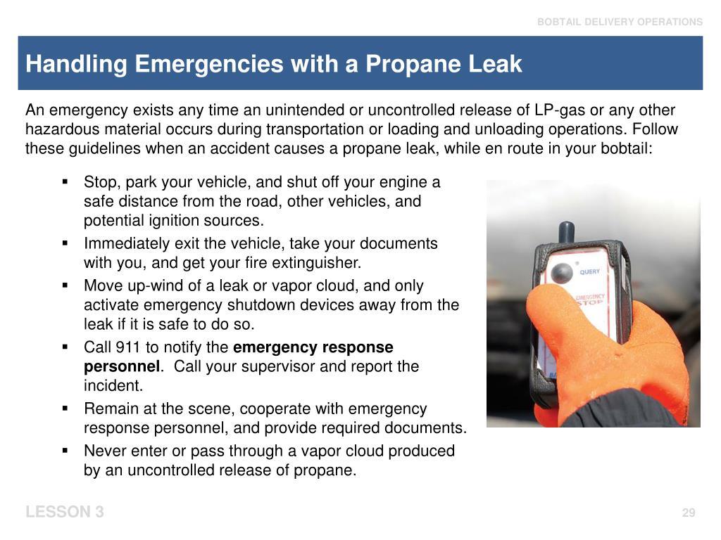 Handling Emergencies with a Propane Leak
