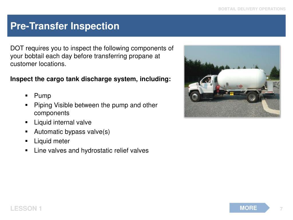 Pre-Transfer Inspection