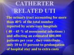 catherter related uti