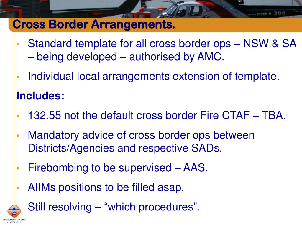 Cross Border Arrangements.