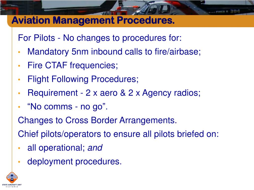 Aviation Management Procedures.
