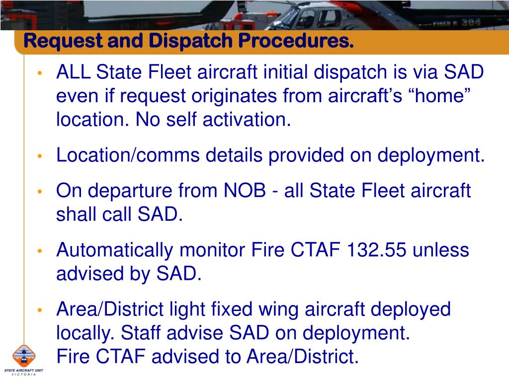 Request and Dispatch Procedures.