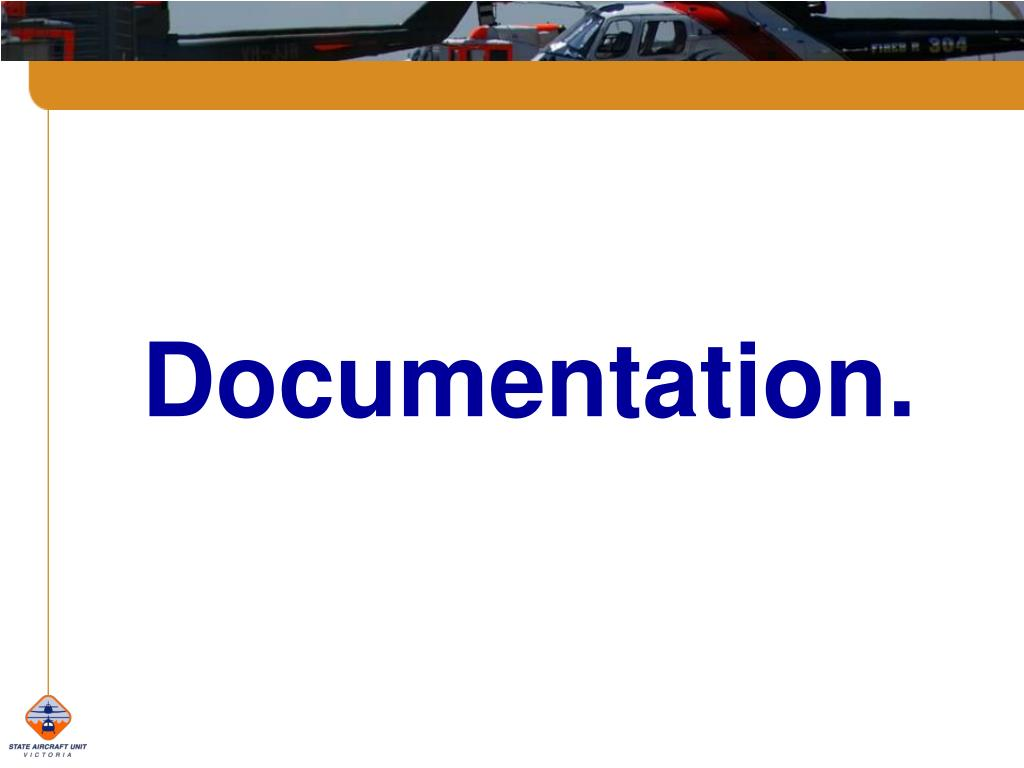 Documentation.
