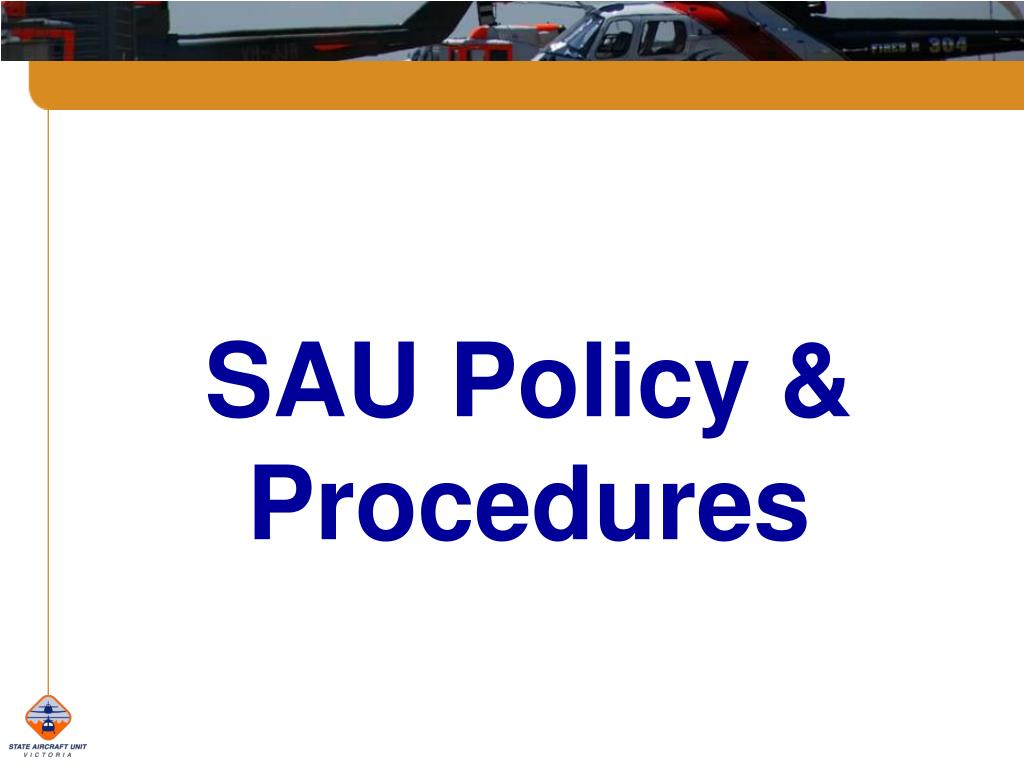 SAU Policy & Procedures
