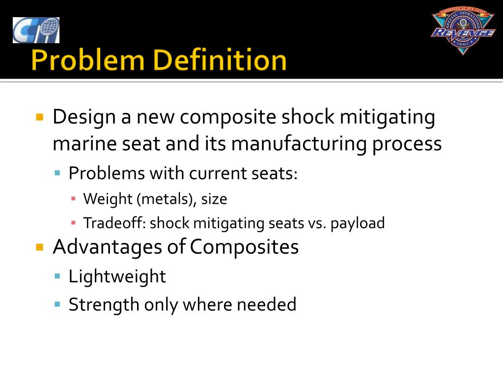 Design a new composite shock mitigating marine seat and its manufacturing process