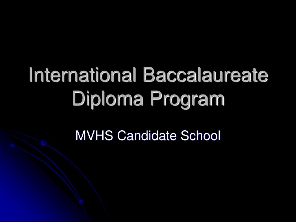 international baccalaureate diploma program l.