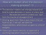 how will intuition affect the decision making process 11104