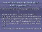 how will intuition affect the decision making process 11105