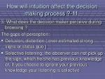 how will intuition affect the decision making process 11106